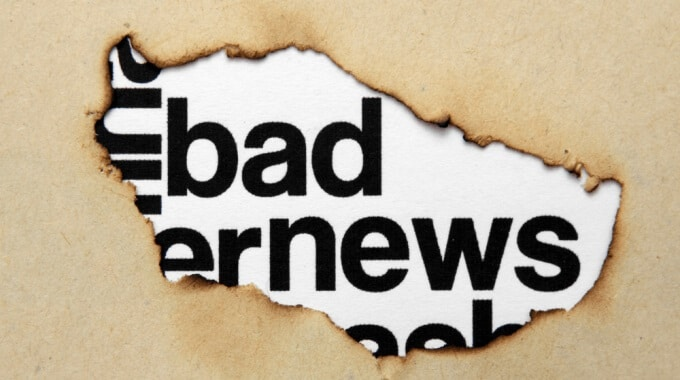 Blog graphic: bad news