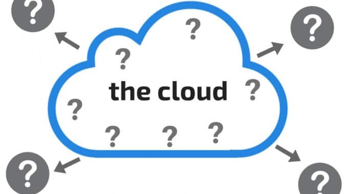 Blog graphic: the cloud