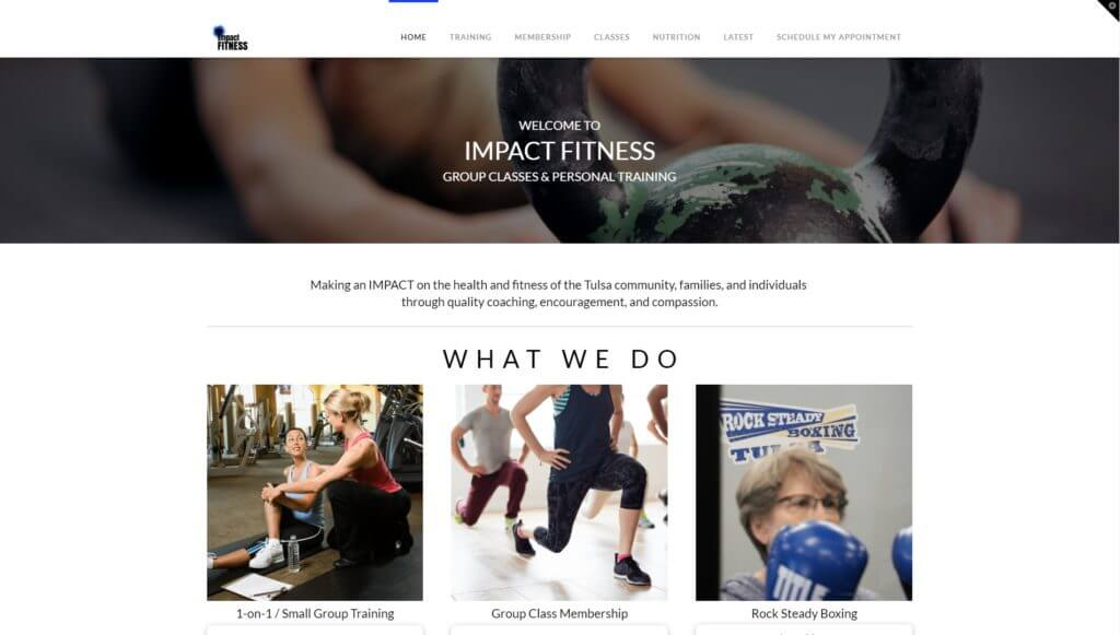 Impact Fitness screenshot
