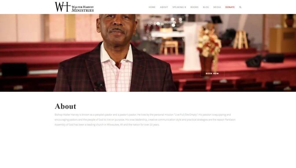 Walter Harvey Ministries screenshot