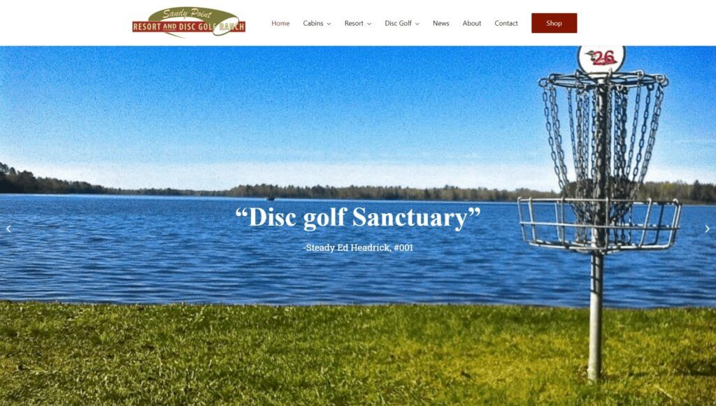 Sandy Point Resort and Disc Golf Ranch screenshot